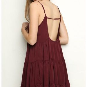 Burgundy Jada Dress
